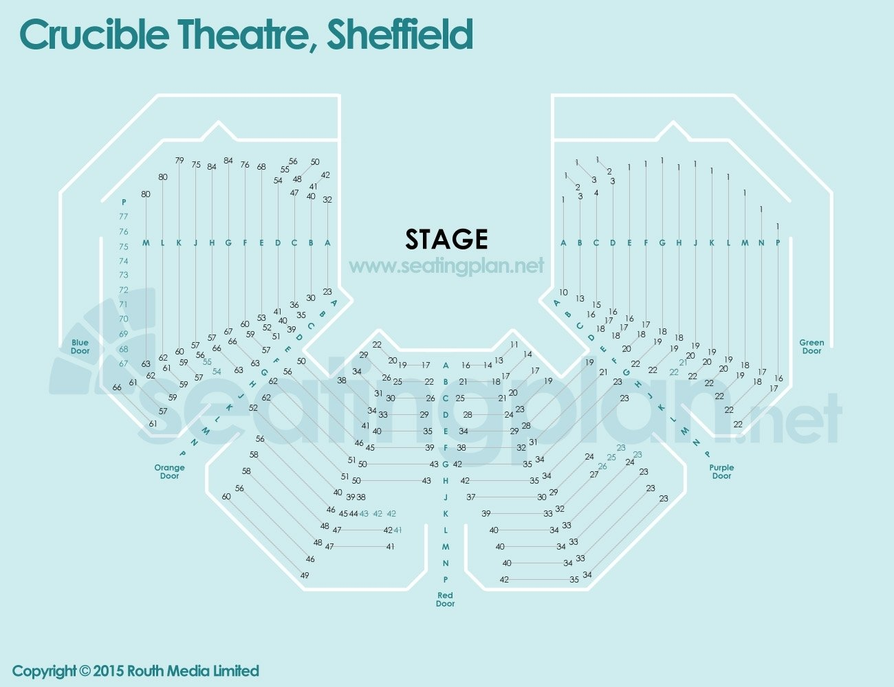 detailed Seating Plan at Crucible Theatre