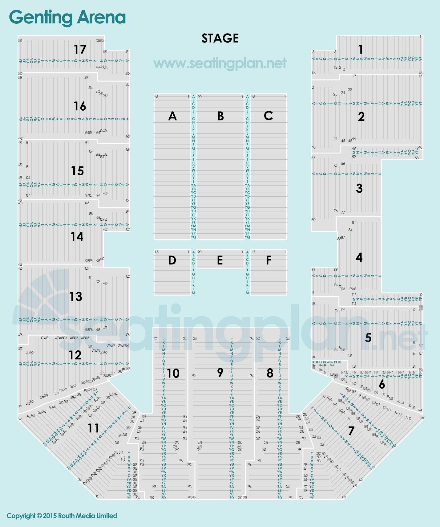 Genting Arena Seating Plan