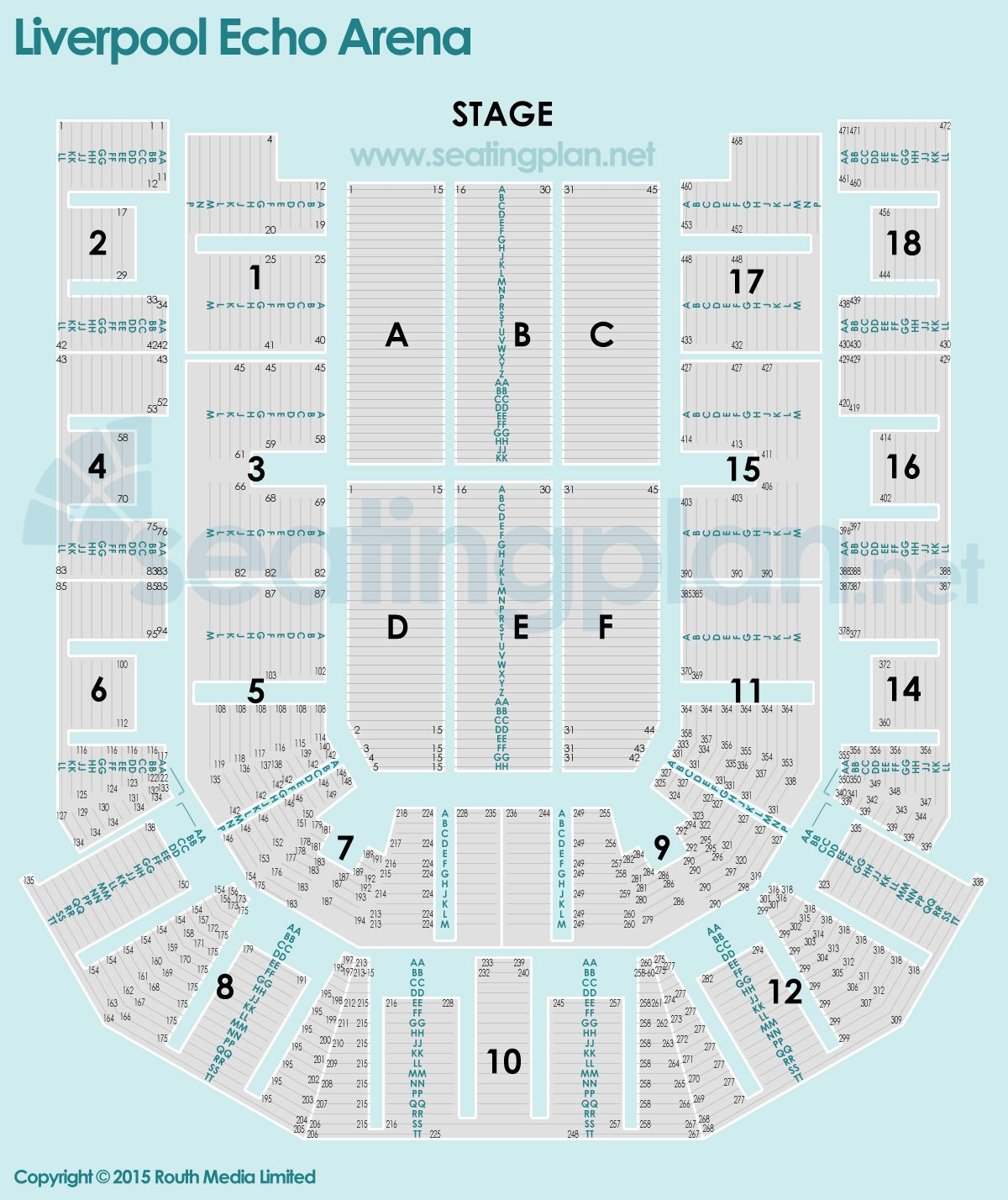 Metro Radio Arena Floor Plan Liverpool Echo Arena Seat Numbers Detailed Seating Plan