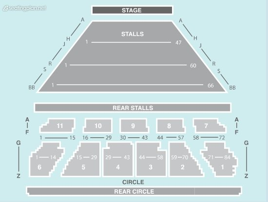 Seating Plan at Eventim Apollo