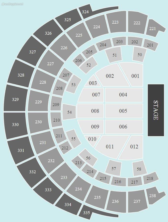 Seating Plan at Hydro