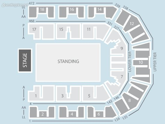 Seating Plan at Liverpool Echo Arena