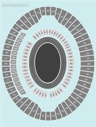 Seating Plan at Queen Elizabeth Olympic Park