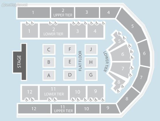 Seating Plan at Arena Birmingham