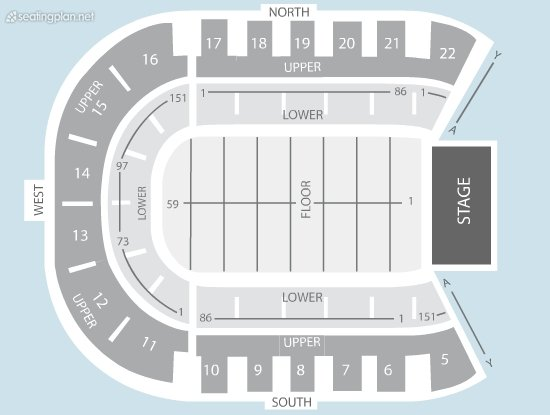 Seating Plan at Odyssey Arena