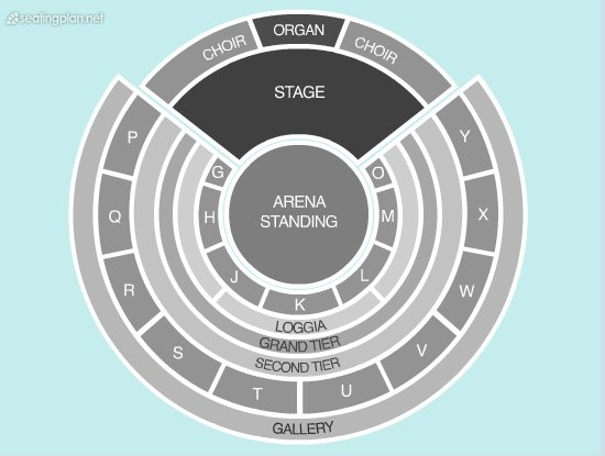 Seating Plan at Royal Albert Hall