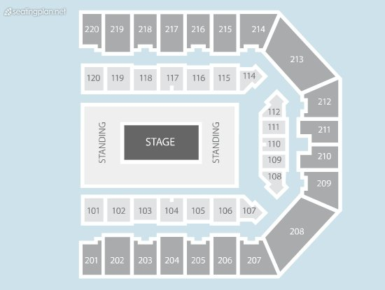 Seating Plan at FlyDSA Arena (Sheffield Arena)