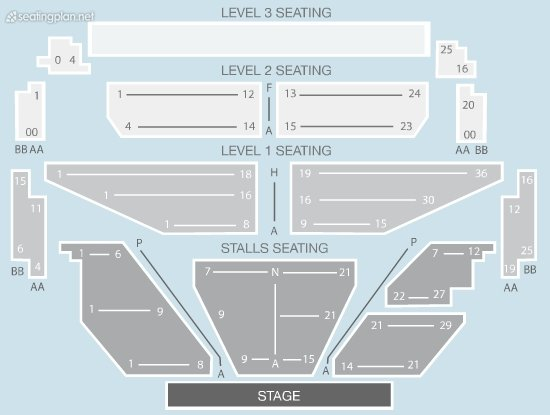 Seating Plan at Shepherds Bush Empire