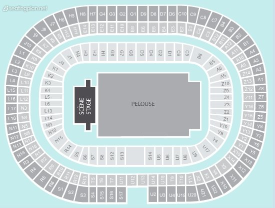 Seating Plan at Stade de France