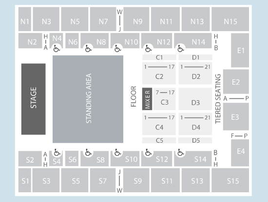 Seating Plan at SSE Arena Wembley