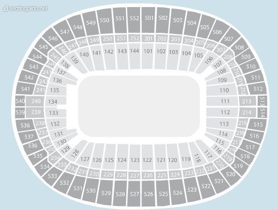 Seating Plan at Wembley Stadium
