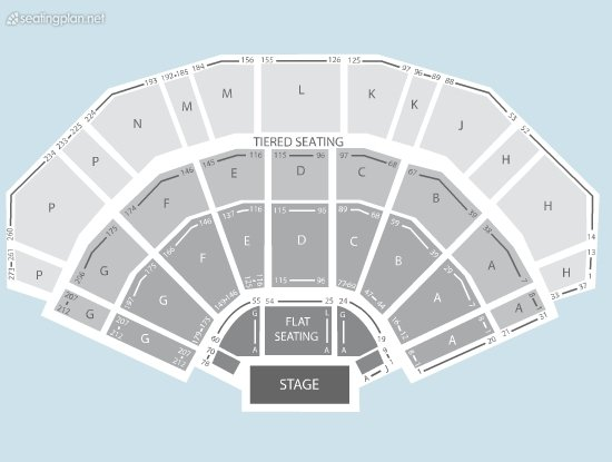 Seating Plan at 3Arena