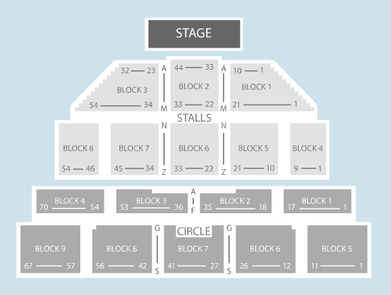 seated Seating Plan at Brixton Academy