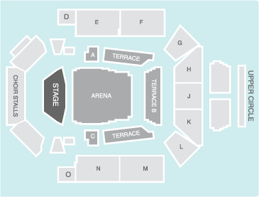 Seated Seating Plan - Concert Hall Glasgow
