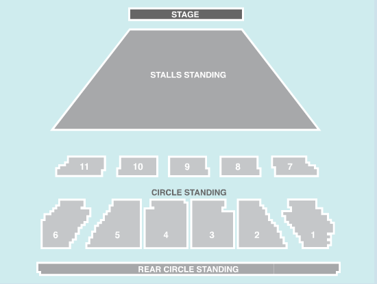 standing Seating Plan at Eventim Apollo