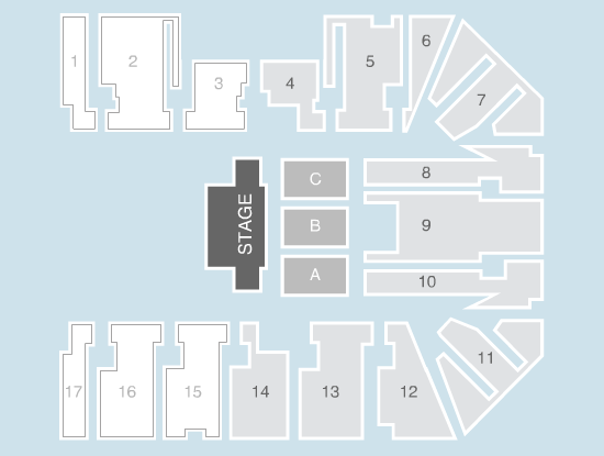 half hall Seating Plan at Genting Arena
