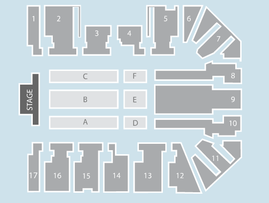 seated Seating Plan at Genting Arena