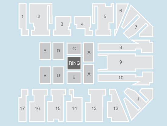 wrestling Seating Plan at Genting Arena