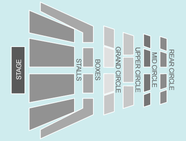 seated Seating Plan at Liverpool Philharmonic Hall