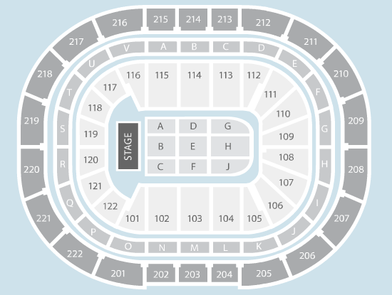 seated Seating Plan at Manchester Arena