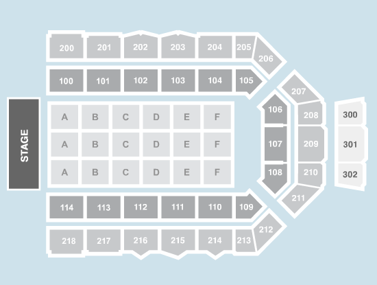seated Seating Plan at Metro Radio Arena