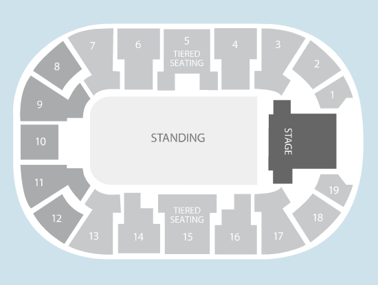 standing Seating Plan at Motorpoint Arena Nottingham
