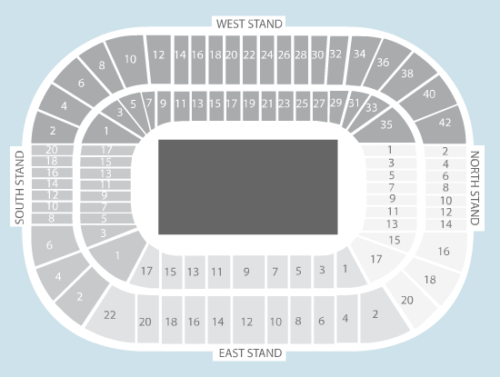 rugby Seating Plan at Murrayfield