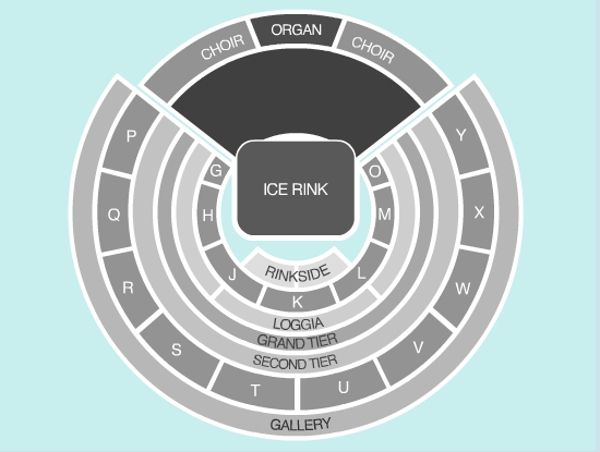 ice Seating Plan at Royal Albert Hall