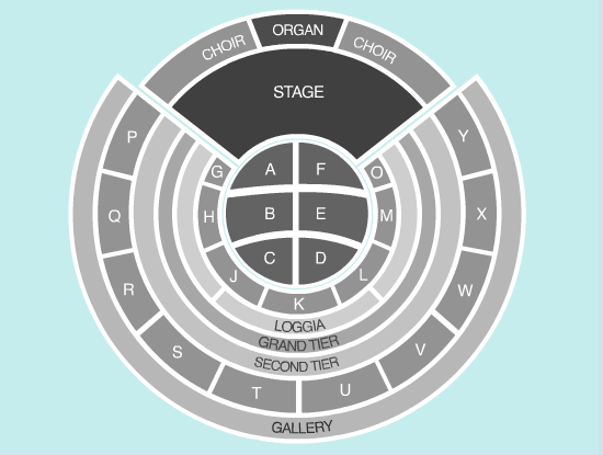 seated Seating Plan at Royal Albert Hall