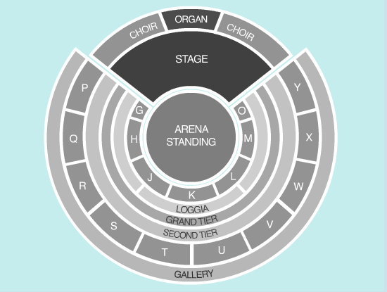standing Seating Plan at Royal Albert Hall