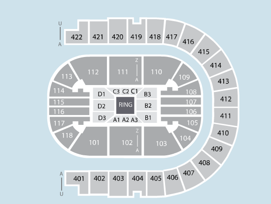 boxing Seating Plan at The O2 Arena