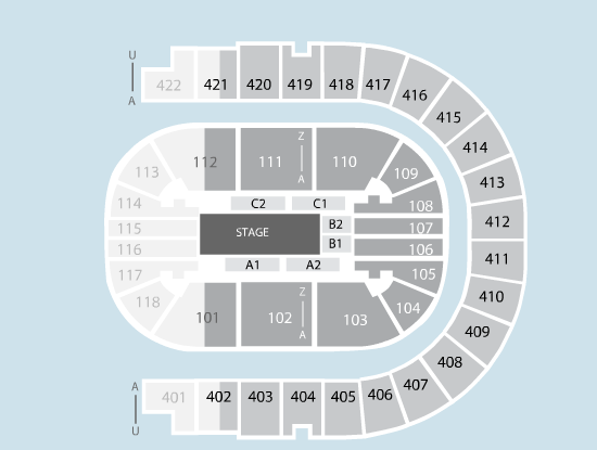 ice Seating Plan at The O2 Arena