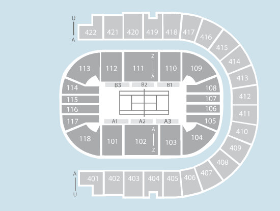 tennis Seating Plan at The O2 Arena