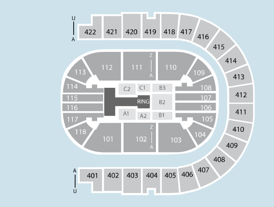 wrestling Seating Plan at The O2 Arena
