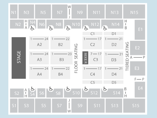 seated Seating Plan at SSE Arena Wembley