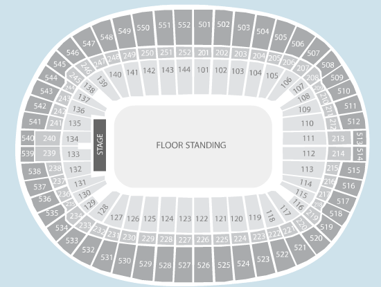 standing Seating Plan at Wembley Stadium