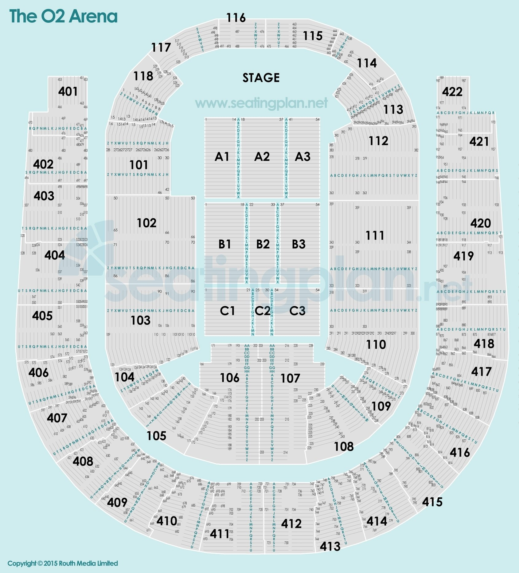 O2 Seating Map The O2 Arena Detailed Seating Plan O2 Seating Map